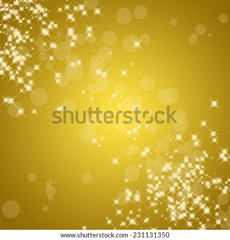 abstract twinkled christmas golden background with stars