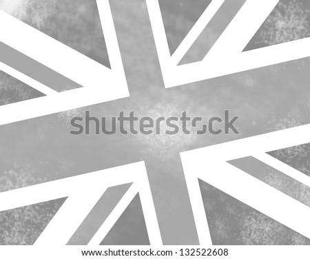 abstract uk flag - stock photo
