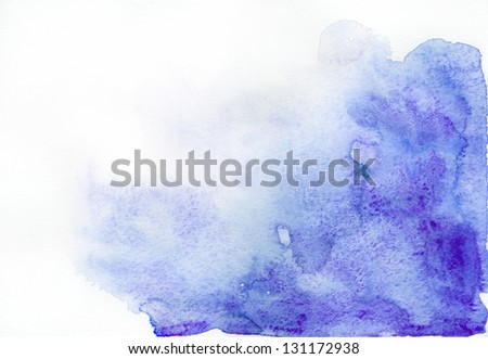 Abstract ultramarine watercolor background - stock photo