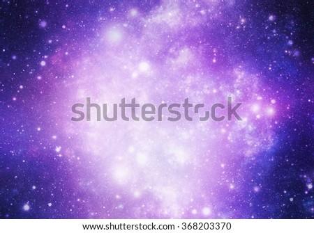 Abstract universe illustration - stock photo