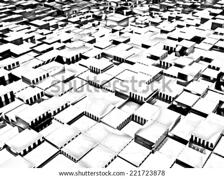 Abstract urban background. Pencil drawing - stock photo