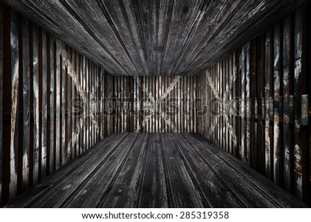 Abstract Urban Wooden Room Interior Stage Background