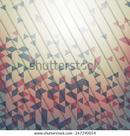 Abstract vector background with geometric elements of the triang - stock photo