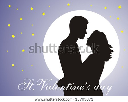 Abstract vector illustration of Couple in love