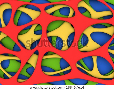 Abstract vibrant colors background 3d illustration - stock photo
