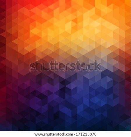 Abstract vibrant mosaic background - raster version - stock photo