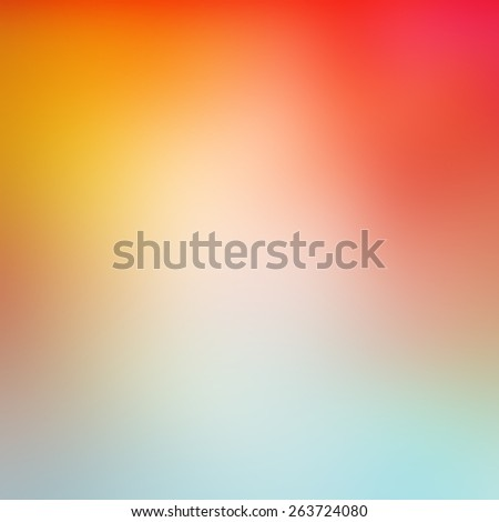 abstract vibrant smooth textured background blur, colorful orange yellow red and blue gradient color background - stock photo