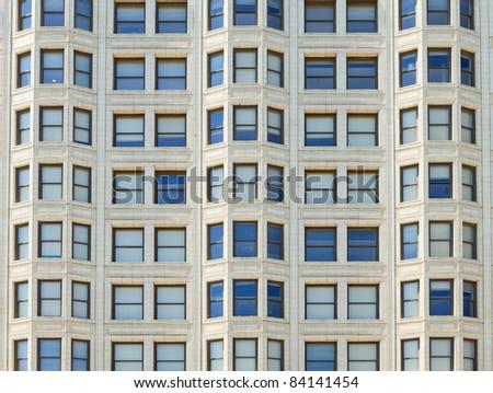 Abstract view of a building facade. - stock photo