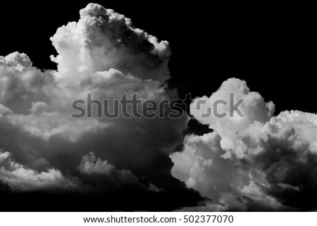 Abstract view of a storm clouds, black white
