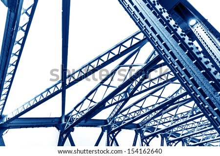 Abstract view of bridge - stock photo