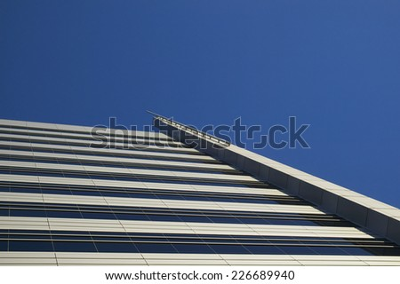 Abstract view of modern building