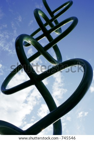 Abstract view of playground equipment - stock photo