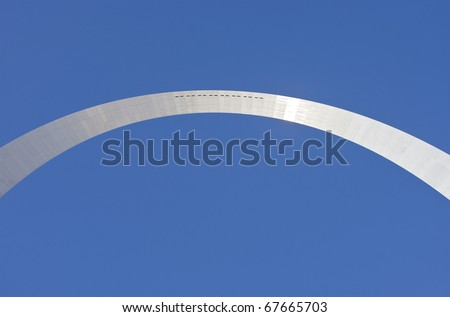 Abstract view of Saint Louis arch - stock photo
