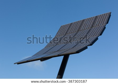 Abstract view of solar panel