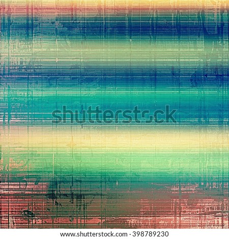 Abstract vintage background with faded grungy texture. Aged backdrop with different color patterns: yellow (beige); green; blue; red (orange); pink - stock photo