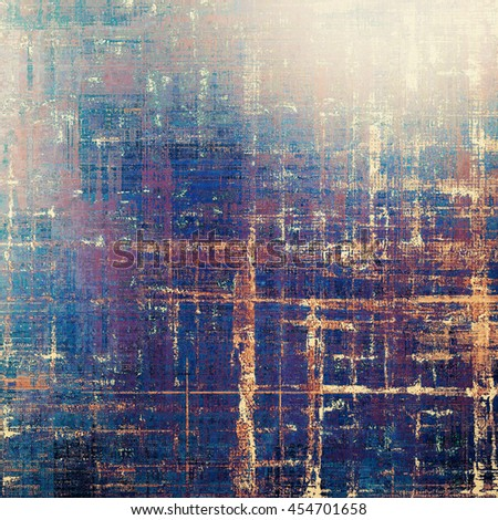 Abstract vintage background with faded grungy texture. Aged backdrop with different color patterns: yellow (beige); brown; gray; blue; red (orange); purple (violet) - stock photo