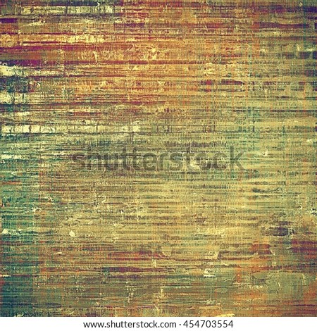Abstract vintage background with faded grungy texture. Aged backdrop with different color patterns: yellow (beige); brown; gray; green; red (orange); purple (violet) - stock photo