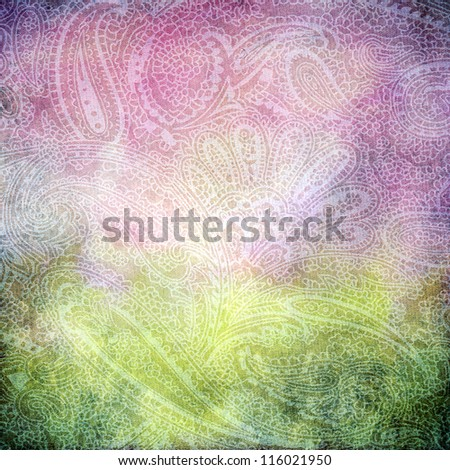 abstract vintage background with Turkish pattern. To design photo albums, books