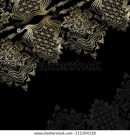 abstract vintage elegant background with a geometrical ornament. raster version - stock photo