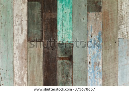 Abstract Vintage Old Wood Texture Background Colorful. Blue Accent.