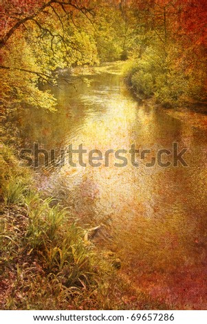 abstract vintage river - stock photo
