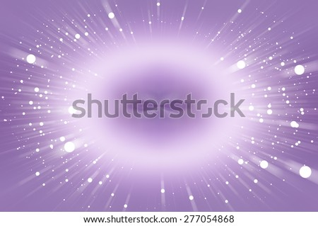 Abstract  violet fractal composition. Magic explosion star with particles