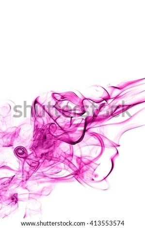 Abstract Violet smoke on white background, Violet background,Violet ink background,purple smoke,beautiful color smoke