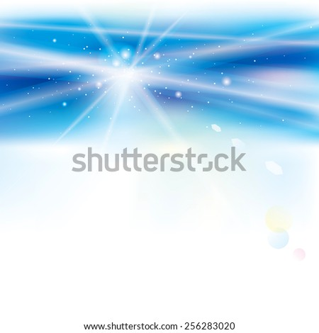 Abstract virtual blue light background. - stock photo