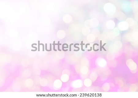 abstract vivid bokeh circles in soft color style background,free Space for text input - stock photo