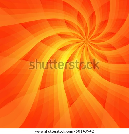 Abstract vivid orange background with sun-flower