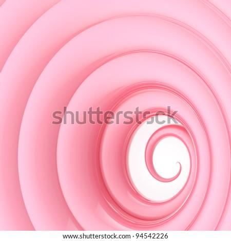 Abstract vortex twirl wavy glossy pink background - stock photo