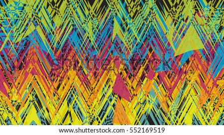 Abstract Wallpaper Background Of Messy Random Shards Color Multi On Black