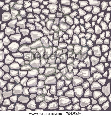 Abstract wallpaper. Cute seamless pattern with stones. Pebble texture.
