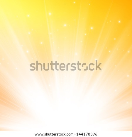 Abstract warm sunlight background
