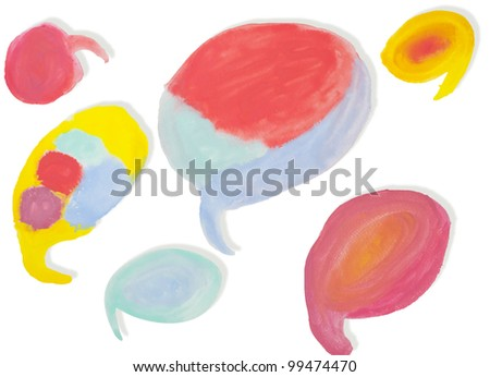 Abstract Water Color Paint Texture and Background - stock photo