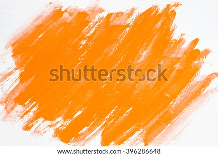 Abstract water color textured background with with orange color - stock photo