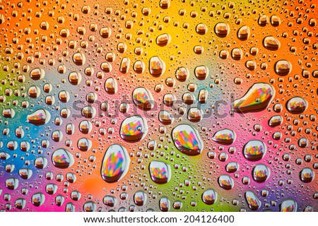 Abstract water drop with colourful