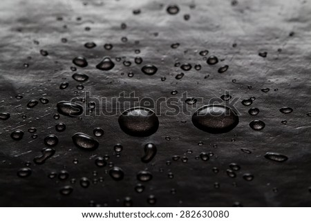 Abstract water drops art. Bubbles black background. Texture. macro view, soft focus. - stock photo