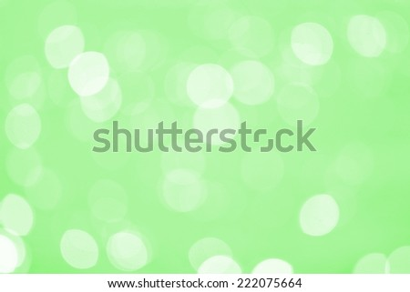 Abstract Water reflect light bokeh background.Green filter. - stock photo