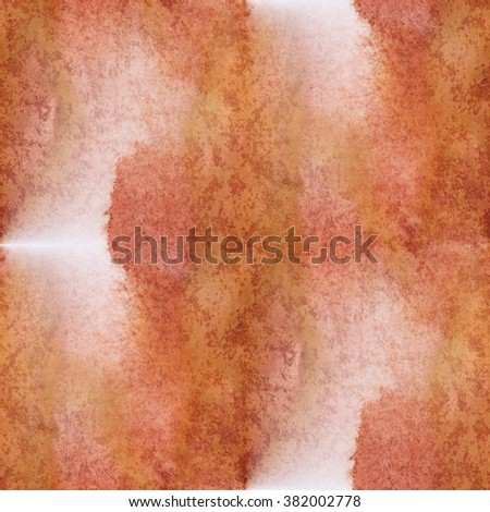 abstract  water unique seamless watercolor pattern brown color brush painting red green watercolour background