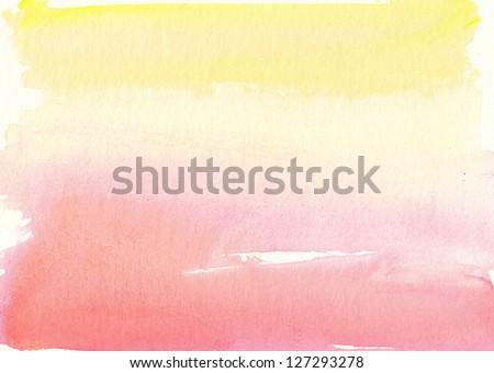 Abstract watercolor art - stock photo