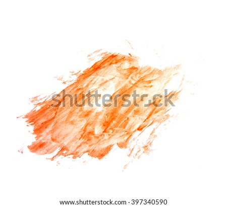 Abstract watercolor art hand paint on white background. Color watercolor texture with copy space