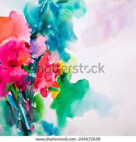 Abstract Watercolor background,