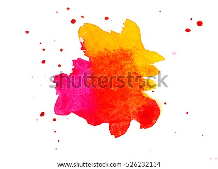 abstract watercolor background as blots on white.