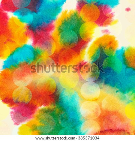 Abstract watercolor background. Hand drawn watercolor backdrop, stain watercolors colors on wet paper