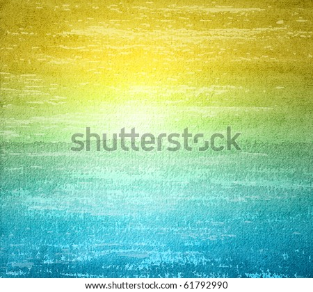 Abstract watercolor background in grunge style - stock photo