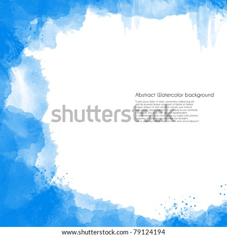 Abstract Watercolor background perfect frame - stock photo