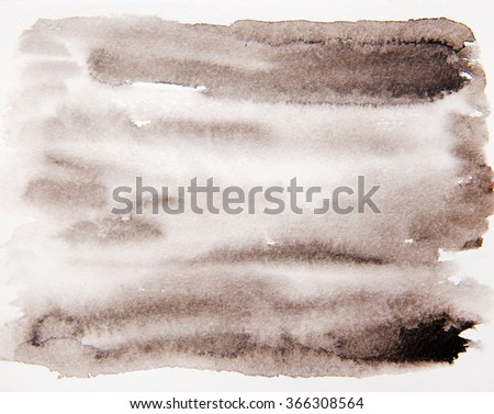 Abstract watercolor background, stain watercolors on wet paper. - stock photo
