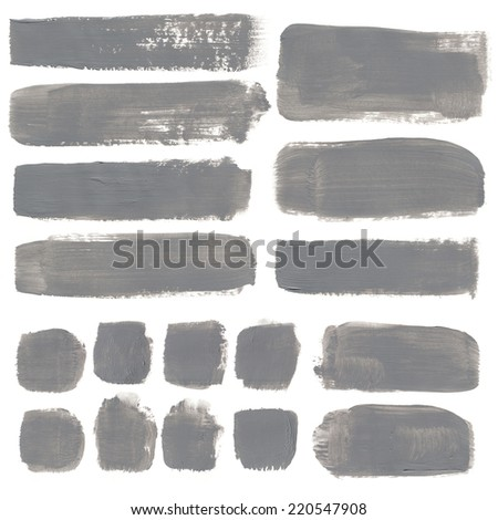 Abstract watercolor background with colorful blots on white. gray - stock photo