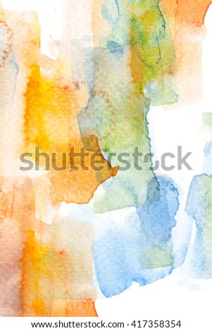 Abstract watercolor brush stroke illustration painting on paper. Artistic background.